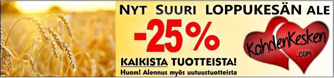Elokuun alennusmyynti kaikki tuotteet -25%