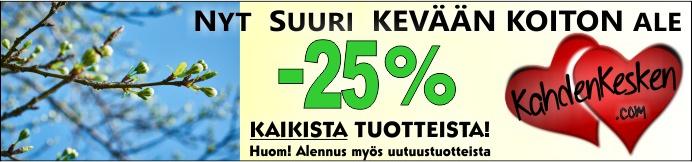 Kevät koittaa alennusmyynti kaikki tuotteet -25%
