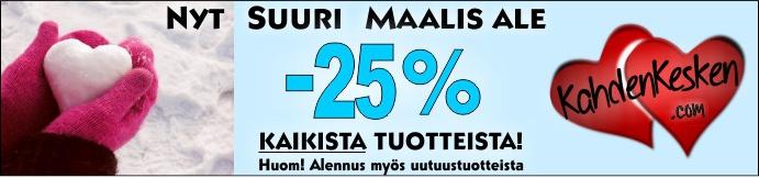 Maaliskuun alennusmyynti kaikki tuotteet -25%
