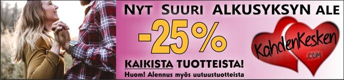 Alkusyksyn alennusmyynti kaikki tuotteet -25%